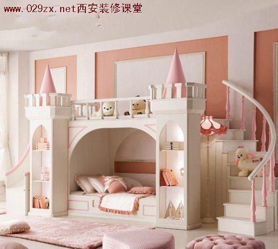 简单的双层床设计非常适合小户型
