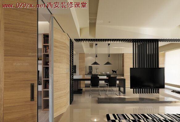 分享几个我很?#19981;?#30340;台湾设计师的作品,他们对于电视墙的处理都很赞: 1.台湾隐巷设计:  160平的房子,为了让整屋光线更通透,打掉了大部分的非承重墙。保留的这一部分是经过计算保留,作为与后面的?#20171;矯子?#38899;室以及开放式厨房、餐厅三个功能区的隔?#24076;?#20063;让眼睛有落脚点,个人认为设计得大方、稳重又不沉闷,非常棒。